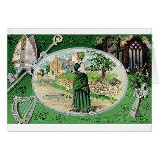 Vintage que va a formar la tarjeta del día de St P