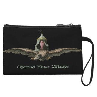 Vintage que vuela Eagle con princesa Wristlet