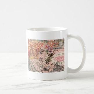 Vintage Queen Bee Beautiful Girly Art Print Coffee Mug