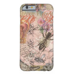 Vintage Queen Bee Beautiful Girly Collage Barely There iPhone 6 Case