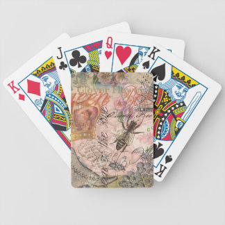Vintage Queen Bee Beautiful Girly Collage Bicycle Playing Cards