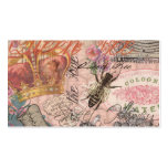 Vintage Queen Bee Beautiful Girly Collage Business Card