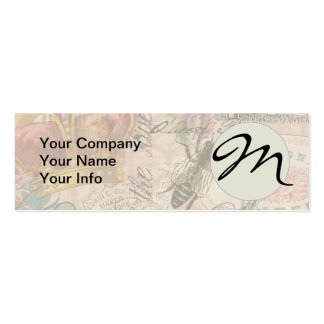 Vintage Queen Bee Beautiful Girly Collage Business Cards