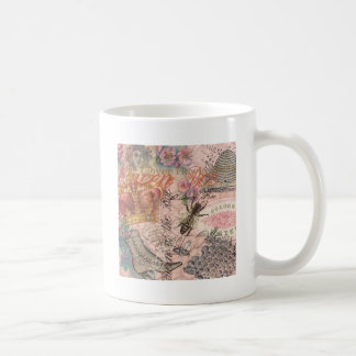 Vintage Queen Bee Beautiful Girly Collage Coffee Mug