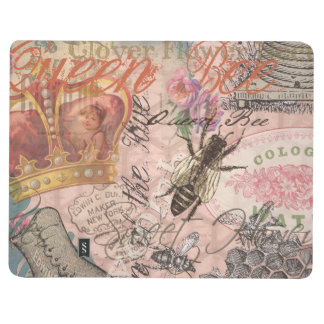 Vintage Queen Bee Beautiful Girly Collage Journal