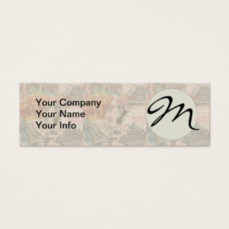 Vintage Queen Bee Beautiful Girly Collage Mini Business Card