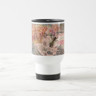 Vintage Queen Bee Beautiful Girly Collage Travel Mug
