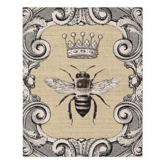 Vintage Queen Bee Faux Canvas Print