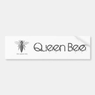 Vintage Queen Bee Illustration Bumper Sticker