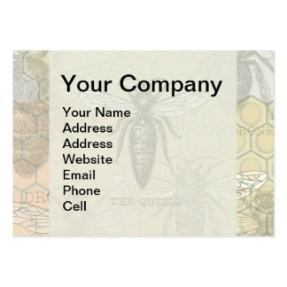 Vintage Queen Bee Illustration Business Card Templates