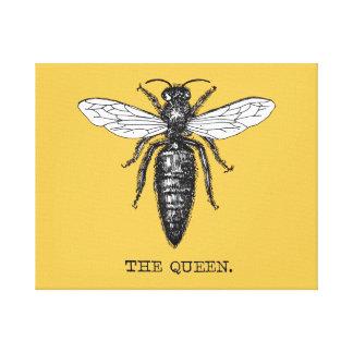 Vintage Queen Bee Illustration Canvas Print
