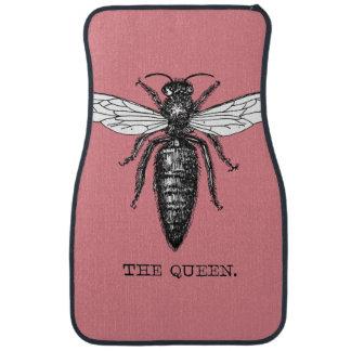 Vintage Queen Bee Illustration Car Mat