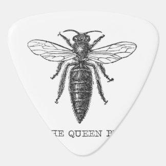 Vintage Queen Bee Illustration Guitar Pick