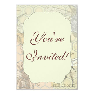 Vintage Queen Bee Illustration 4.5x6.25 Paper Invitation Card