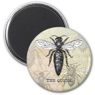 Vintage Queen Bee Illustration Refrigerator Magnets