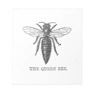 Vintage Queen Bee Illustration Note Pad