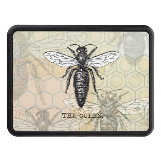 Vintage Queen Bee Illustration Tow Hitch Covers
