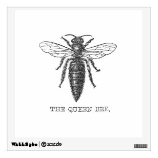 Vintage Queen Bee Illustration Wall Sticker