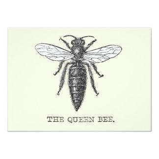 Vintage Queen Bee Invitation Antique beehive