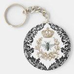 Vintage Queen Bee...keychain Basic Round Button Keychain