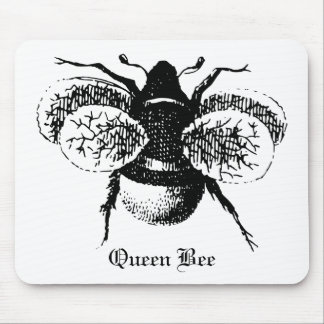 Vintage Queen Bee Mouse Pad