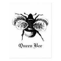 Vintage Queen Bee Postcard