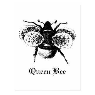 Vintage Queen Bee Postcard