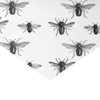 """Vintage Queen Bee & Working Bees Illustration 10"""" X 15"""" Tissue Paper"""