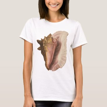 YesterdayCafe Vintage Queen Conch Seashell Shell, Marine Animal T-Shirt