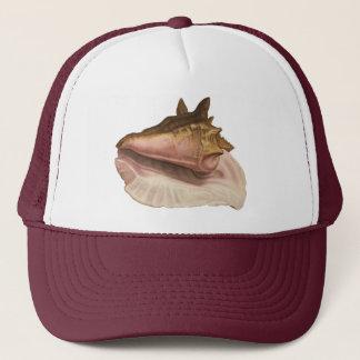 Vintage Queen Conch Seashell Shell, Marine Animal Trucker Hat