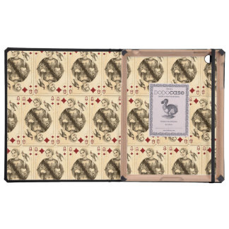 Vintage Queen Diamonds Playing Cards Collage iPad Case