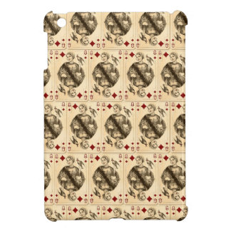 Vintage Queen Diamonds Playing Cards Collage Cover For The iPad Mini