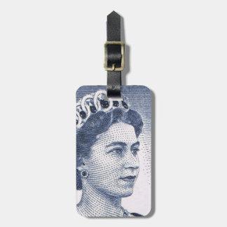 Vintage Queen Elizabeth Australia Australian Bag Tag