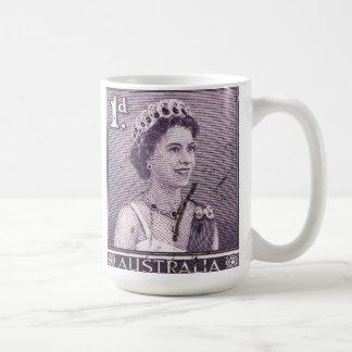 Vintage Queen Elizabeth Australia Australian Coffee Mug