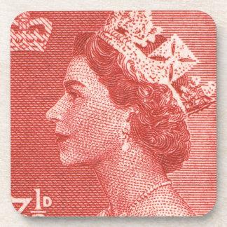 Vintage Queen Elizabeth Australia Australian Drink Coaster