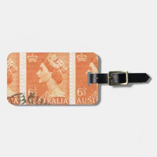 Vintage Queen Elizabeth Australia Australian Luggage Tag