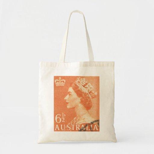 Vintage Queen Elizabeth Australia Australian Tote Bag