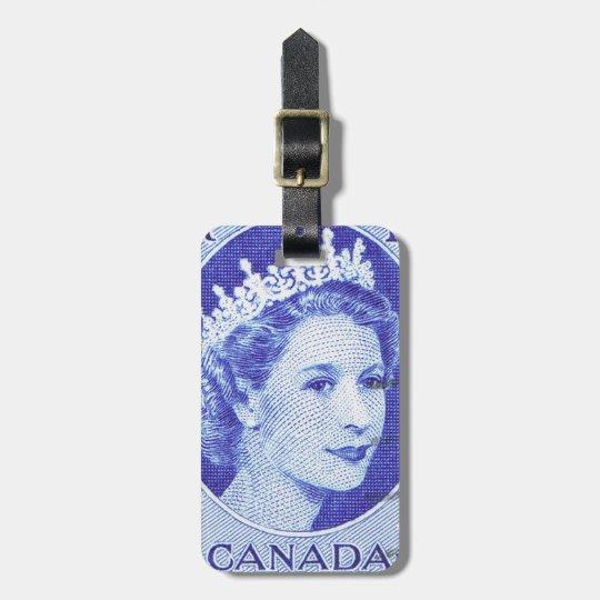 Vintage Queen Elizabeth Canada Bag Tag