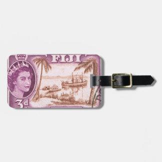Vintage Queen Elizabeth Fiji Bag Tag