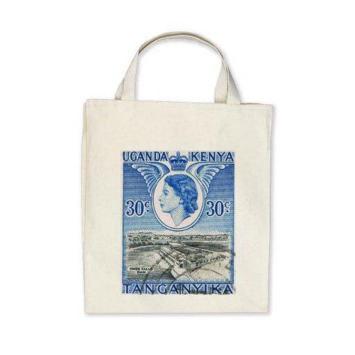 Vintage Queen Elizabeth II Kenya Canvas Bag