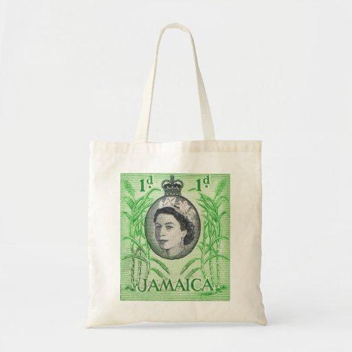 Vintage Queen Elizabeth Jamaica Budget Tote Bag