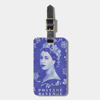 Vintage Queen Elizabeth UK Britain Tag For Luggage