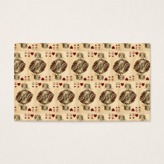 Vintage Queen Hearts PLaying Cards Collage