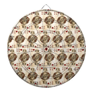 Vintage Queen Hearts PLaying Cards Collage Dartboard