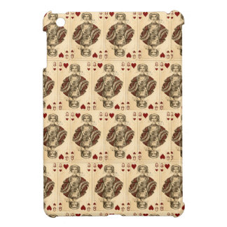 Vintage Queen Hearts PLaying Cards Collage iPad Mini Cover