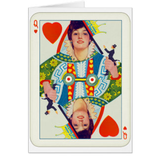 Vintage Queen of Hearts Evelyn Nesbit Pin Up Girl Card