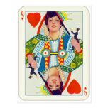 Vintage Queen of Hearts Evelyn Nesbit Pin Up Girl Postcard