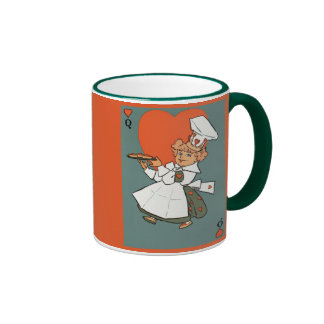 Vintage Queen of Hearts Mother Goose 1901 Coffee Mugs
