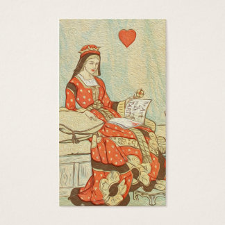 Vintage Queen of Hearts Painting Business Card