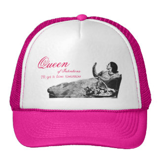 Vintage Queen of Intentions Hat Trucker Hat